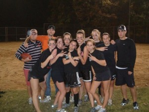Circa 2005: My intramural Flag Football team - keeping fitness fun!