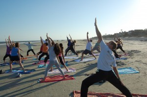 Beach Yoga at Hilton Head Health