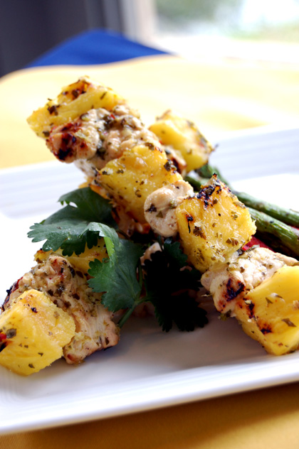 Cilantro-Lime Grilled Chicken Skewers and Bonus Recipe /// H3 Daily