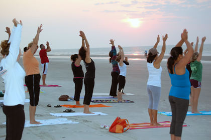 Our May Challenge - Staff Sunrise Beach Yoga