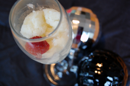 champagne sorbet Healthy New Years Eve Recipe: Champagne Sorbet