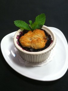 blackberry cob 224x300 Healthy Recipes: Blueberry Cobbler