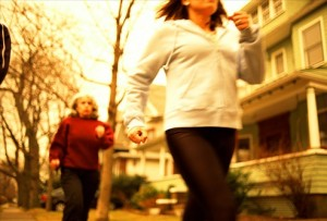 women power walking