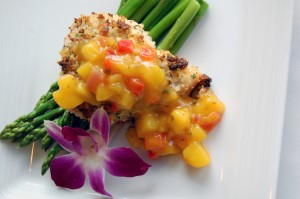 macadamia crusted fish with mango chutney 300x199 Going Nuts about Nuts!