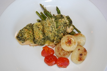 pesto encrusted chicken