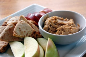 peanut butter hummus6 3 300x199 NUTRITION: HEALTHY SNACKS FOR YOUR ROAD TRIP